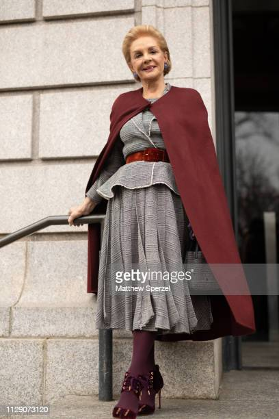 Carolina Herrera is seen on the street during New York Fashion Week AW19 wearing Carolina Herrera on February 11 2019 in New York City