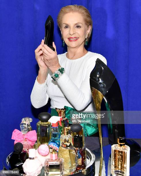 Carolina Herrera poses backstage at the 2017 Fragrance Foundation Awards Presented By Hearst Magazines at Alice Tully Hall on June 14, 2017 in New...
