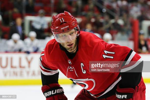 Carolina Hurricanes Center Jordan Staal during the 3rd period of the Carolina Hurricanes game versus the Tampa Bay Lightning on October 24 at PNC...
