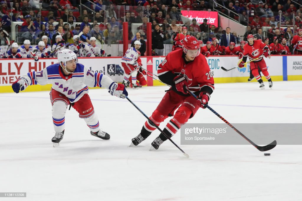 Carolina Hurricanes Center Sebastian Aho With The Puck While New York News Photo Getty Images