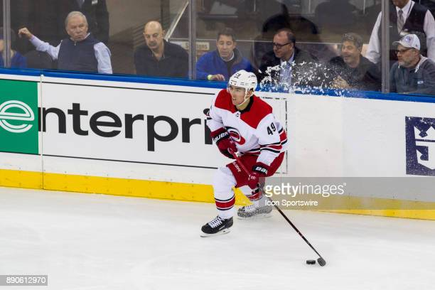 Carolina Hurricanes Center Victor Rask in action during the first period of a regular season NHL game between the Carolina Hurricanes and the New...