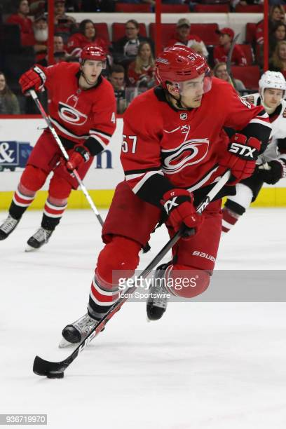 Carolina Hurricanes Defenceman Trevor van Riemsdyk during the 2nd period of the Carolina Hurricanes game versus the Arizona Coyotes on March 22 at...