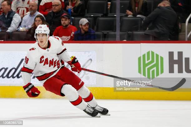 Carolina Hurricanes forward Martin Necas of the Czech Republic skates during a regular season NHL hockey game between the Carolina Hurricanes and the...