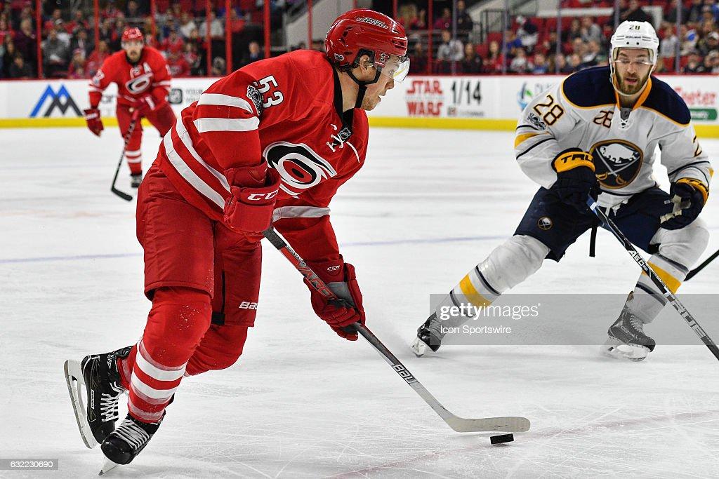 NHL: JAN 13 Sabres at Hurricanes : News Photo