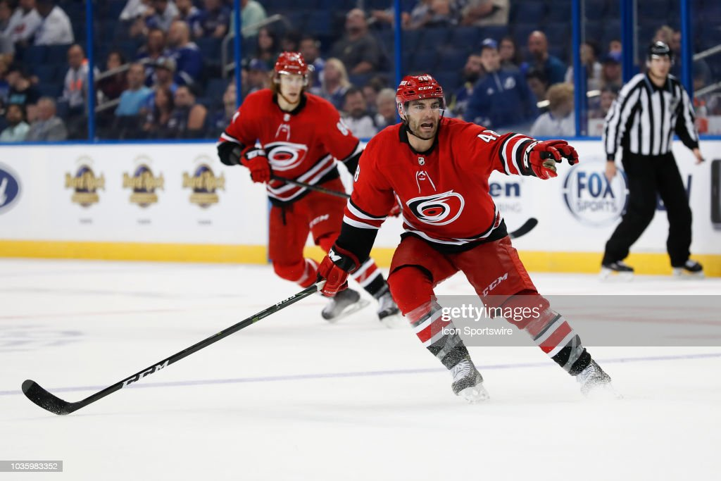NHL: SEP 18 Preseason - Hurricanes at Lightning : News Photo