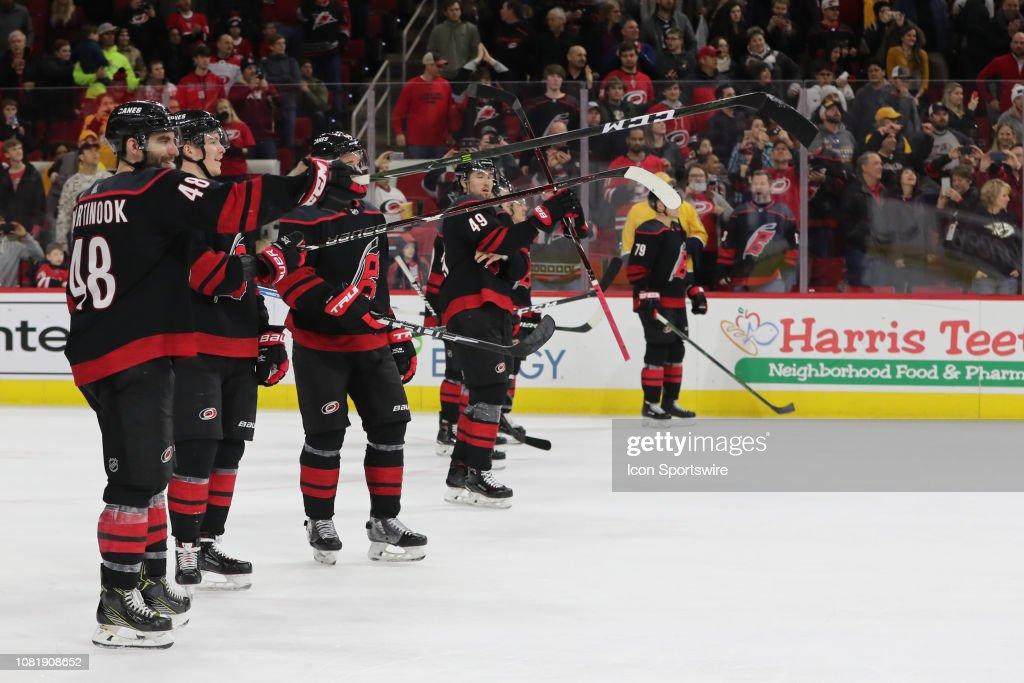 NHL: JAN 13 Predators at Hurricanes : News Photo