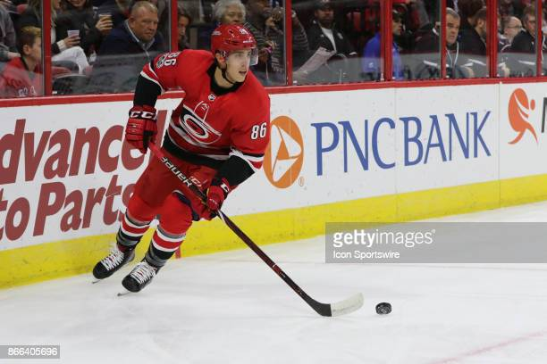 Carolina Hurricanes Winger Teuvo Teravainen during the 1st period of the Carolina Hurricanes game versus the Tampa Bay Lightning on October 24 at PNC...