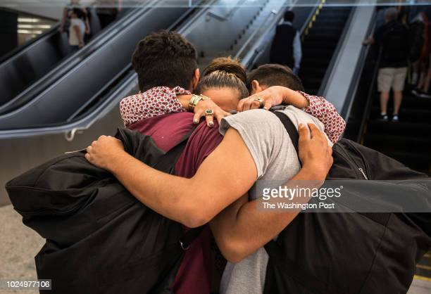 Carolina Isabel Iraheta de Hernandez is reunited with her sons Saul and Diego at Dulles International airport Carolina who now lives in Arlington...