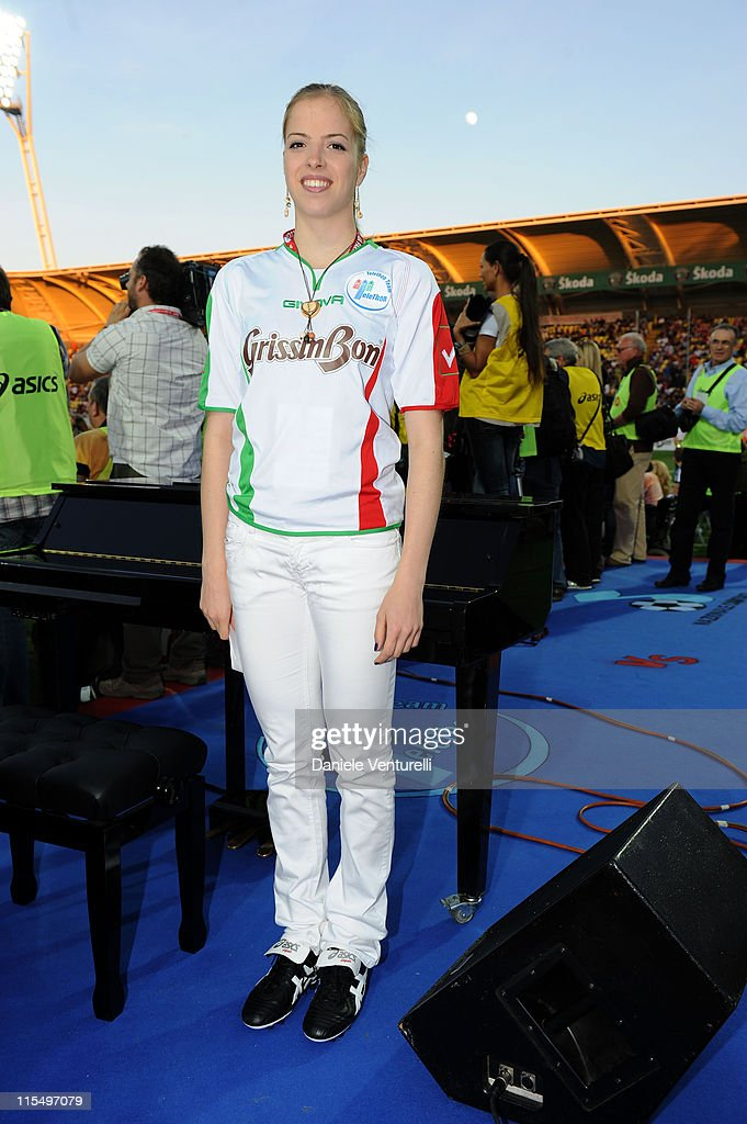 Carolina Kostner attends the XIX Partita Del Cuore charity football game at on May 25, 2010 in Modena, Italy.