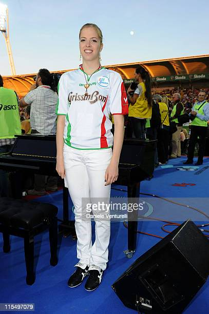 Carolina Kostner attends the XIX Partita Del Cuore charity football game at on May 25 2010 in Modena Italy