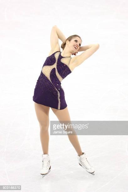 Carolina Kostner of Italy competes during the Ladies Single Skating Free Skating on day fourteen of the PyeongChang 2018 Winter Olympic Games at...