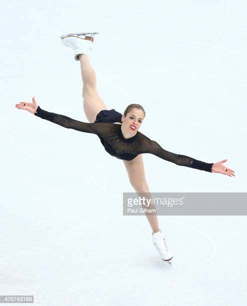 Carolina Kostner of Italy competes in the Figure Skating Ladies' Free Skating on day 13 of the Sochi 2014 Winter Olympics at Iceberg Skating Palace...
