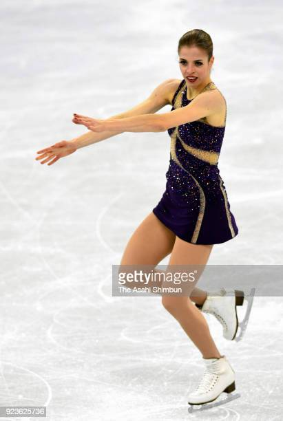 Carolina Kostner of Italy competes in the Figure Skating Ladies Single Free Skating on day fourteen of the PyeongChang 2018 Winter Olympic Games at...