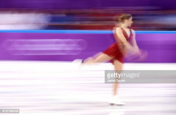 Carolina Kostner of Italy competes in the Figure Skating Team Event – Ladies' Short Program on day two of the PyeongChang 2018 Winter Olympic Games...