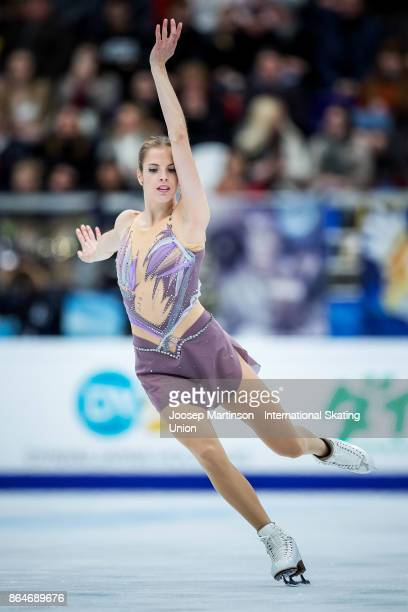Carolina Kostner of Italy competes in the Ladies Free Skating during day two of the ISU Grand Prix of Figure Skating Rostelecom Cup at Ice Palace...