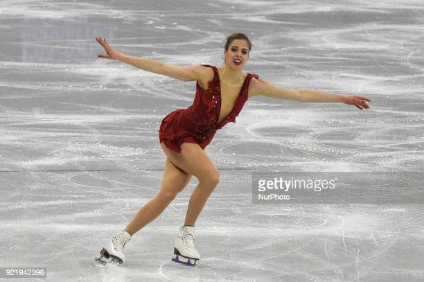 Carolina Kostner of Italy competing in free dance at Gangneung Ice Arena Gangneung South Korea on February 21 2018