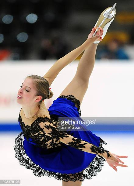Carolina Kostner of Italy performs during the Ladies Short programme of the European Figure Skating Championships on January 28 2011 in Bern AFP...