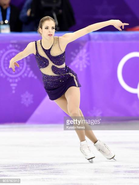 Carolina Kostner of Italy performs her free skate during the women's figure skating event at the Pyeongchang Winter Olympics in Gangneung South Korea...