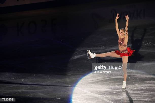 Carolina Kostner of Italy performs in the Exhibition Gala of the ISU Grand Prix of Figure Skating NHK Trophy at Sendai City Gymnasium on December 2...