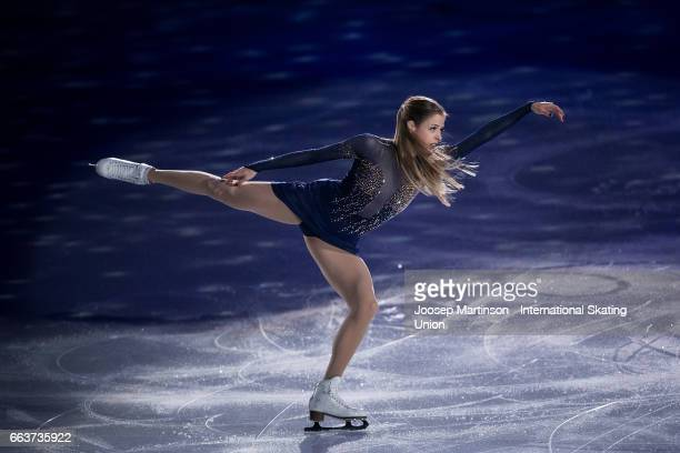 Carolina Kostner of Italy performs in the gala exhibition during day five of the World Figure Skating Championships at Hartwall Arena on April 2 2017...