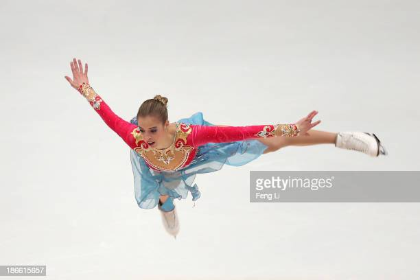 Carolina Kostner of Italy skates in the Ladies Free Skating during Lexus Cup of China ISU Grand Prix of Figure Skating 2013 at Beijing Capital...