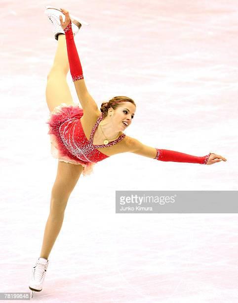 Carolina Kostner of Italy skates in the Ladies Free Skating of the ISU Grand Prix of Figure Skating 2007/2008 NHK Trophy at Sendai City Gymnasium on...