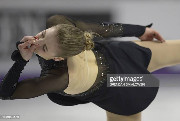 Carolina Kostner of Italy skates to a silver medal in the dance competition at the 2013 World Figure Skating Championships in London Ontario March 16...