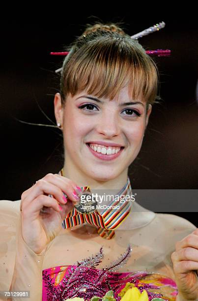 Carolina Kostner of Italy wins Gold during the Womans Free Program during the ISU European Figure Skating Championships 2007 at the Torwar Ice Arena...