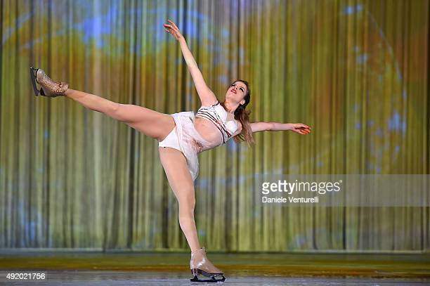 Carolina Kostner performs during the Intimissimi On Ice 2015 Show on October 9 2015 in Verona Italy