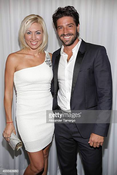 Carolina Laursen and David Chocarro attend The Israel Ministry of Tourism Reception at Briza on the Bay on September 16 2014 in Miami Florida