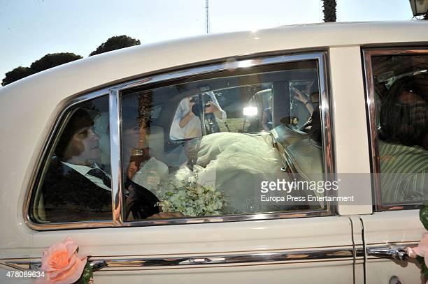 Carolina Martin attends her wedding with Barcelona fooball player Pedro Rodriguez 'Pedrito' in La Cabrera del Mar on June 20 2015 in Barcelona Spain