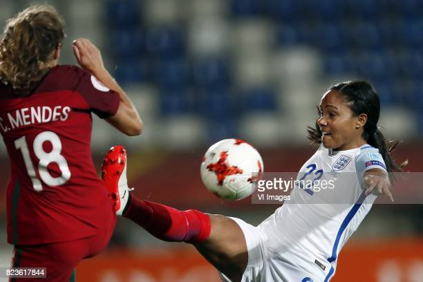 Carolina Mendes of Portugal women Alex Scott of England women during the UEFA WEURO 2017 Group D group stage match between Portugal and England at...