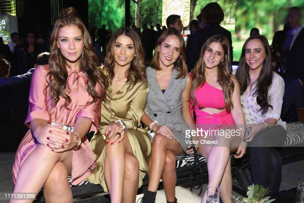Carolina Miranda and guests attend the LaLa 100 recognize the new heroes golden carpet show at Foro Hipodromo on September 26 2019 in Mexico City...