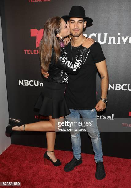 Carolina Miranda and Michel Duval attend the NBCUniversal International Offsite Event at LIV Fontainebleau on November 9 2017 in Miami Beach Florida