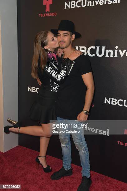 Carolina Miranda and Michel Duval attends the NBCUniversal International Offsite Event at LIV Fontainebleau on November 9 2017 in Miami Beach Florida