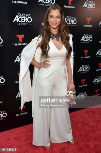 Carolina Miranda at the 'Senora Acero La Coyote' Miami Premiere at Cinebistro on November 6 2017 in Doral Florida