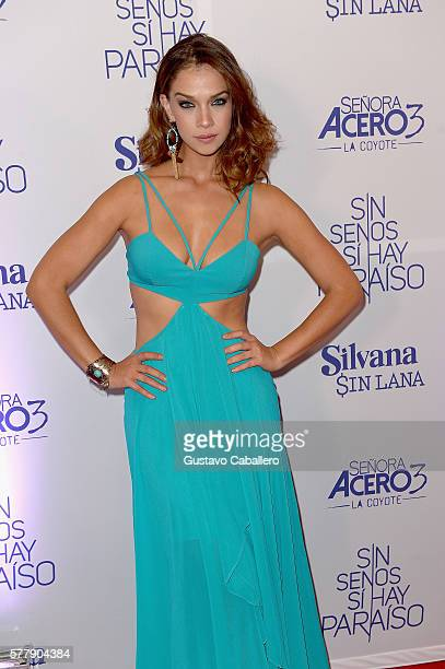 Carolina Miranda attends premiere of new Telemundo productions Silvana Sin Lana Sin Senos Si Hay Paraiso and Senora Acero 3 La Coyote at Conrad...