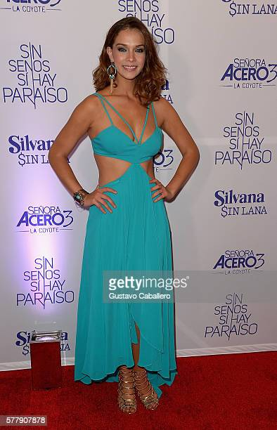 Carolina Miranda attends premiere of new Telemundo productions Silvana Sin Lana Sin Senos Si Hay Paraiso and Senora Acero 3 La Coyote at Conrad Hotel...
