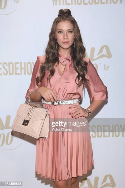 Carolina Miranda attends the LaLa 100 recognize the new heroes golden carpet show at Foro Hipodromo on September 26 2019 in Mexico City Mexico