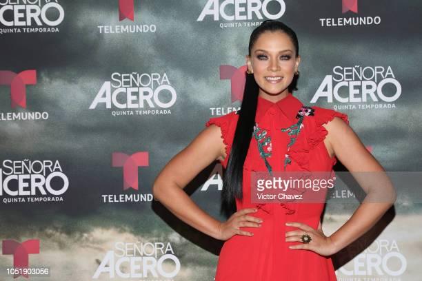 Carolina Miranda attends the special screening of Telemundo tv series Senora Acero 5th season on October 10 2018 in Mexico City Mexico