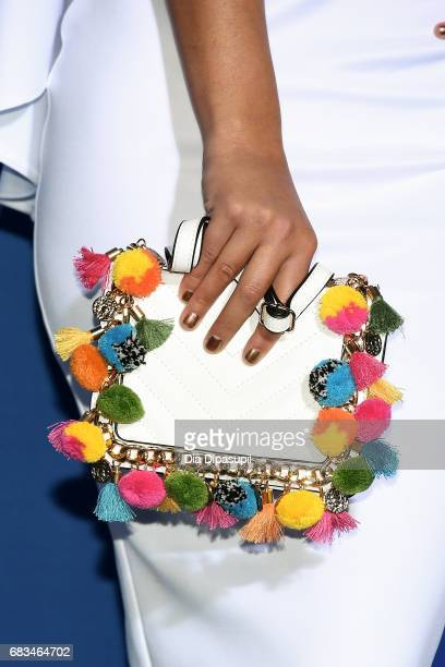 Carolina Miranda clutch detail attends the 2017 NBCUniversal Upfront at Radio City Music Hall on May 15 2017 in New York City