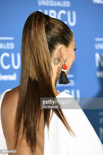 Carolina Miranda tattoo detail attends the 2017 NBCUniversal Upfront at Radio City Music Hall on May 15 2017 in New York City