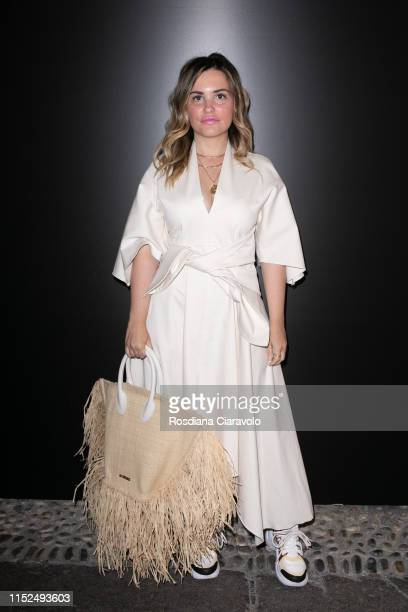 Carolina Ogliaro attends the Great Lengths Hair Like You photocall and presentation on May 29 2019 in Milan Italy Great Lengths extensions are used...