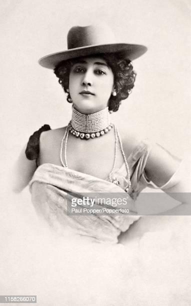 Carolina Otero La Belle or La Belle Otero a popular Folies Bergere dancer in Paris circa 1900