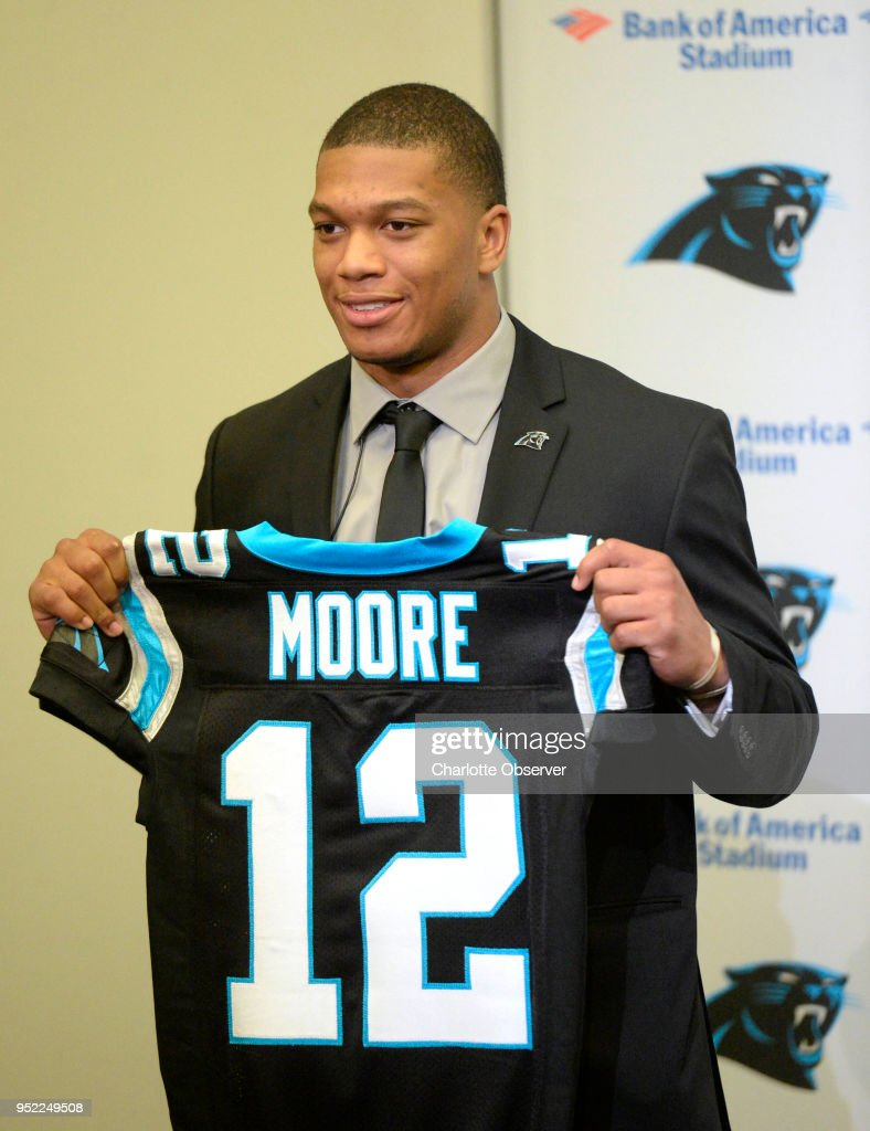 the latest d4e68 cc72d Carolina Panthers 2018 first-round draft pick D.J. Moore ...