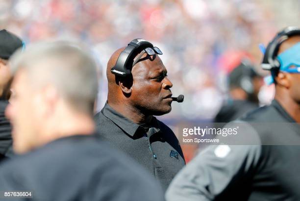 Carolina Panthers assistant defensive backs / safeties Richard Rodgers during a game between the New England Patriots and the Carolina Panthers on...