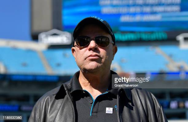 Carolina Panthers David Tepper during their game against the Tennessee Titans at Bank of America Stadium on November 03, 2019 in Charlotte, North...