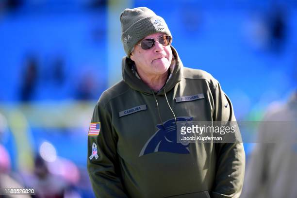 Carolina Panthers owner David Tepper before their game against the Atlanta Falcons at Bank of America Stadium on November 17, 2019 in Charlotte,...