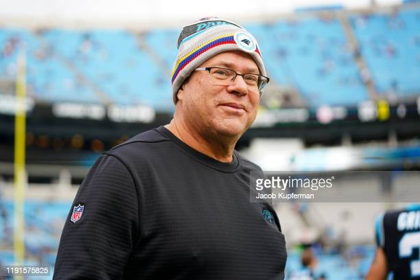 Carolina Panthers owner David Tepper before their game against the Washington Redskins at Bank of America Stadium on December 01 2019 in Charlotte...