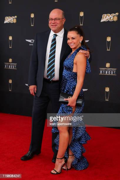 Carolina Panthers owner David Tepper poses on the Red Carpet prior to the NFL Honors on February 1 2020 at the Adrienne Arsht Center in Miami FL